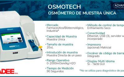 OsmoTECH – Osmómetro de muestra única