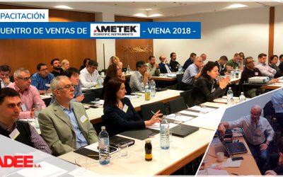 Encuentro de ventas de Ametek – Viena 2018