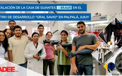 """Instalación de caja de guantes MBRAUN en el Centro de Desarrollo """"Gral Savio"""" en Palpalá, Jujuy"""