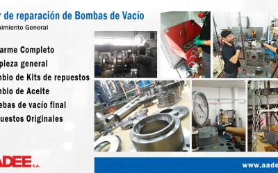 Reparación y Mantenimiento de bombas de Vacío y Alto Vacío de todo tipo de tecnologías