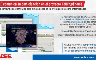 AADEE comunica su participación en el proyecto Folding@home